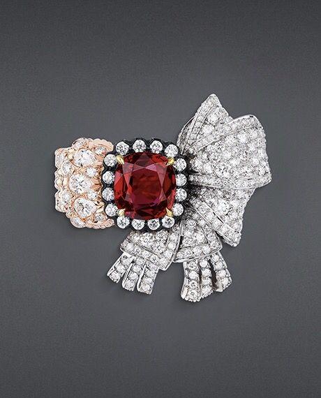 "DIOR ""Salon de Mercure"" ring in platinum, pink gold, scorched silver, diamonds…"