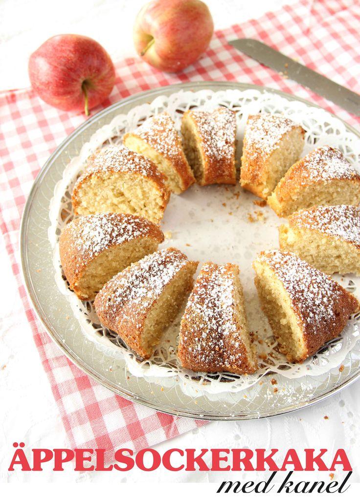 Äppelsockerkaka med kanel