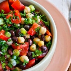 When you can make this Middle Eastern Bean Salad with canned beans, that's my idea of convenience food.