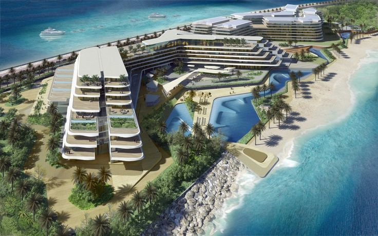The W Hotel and apartments on Palm Jumeirah. One of the upcoming projects of RMJM Dubai.
