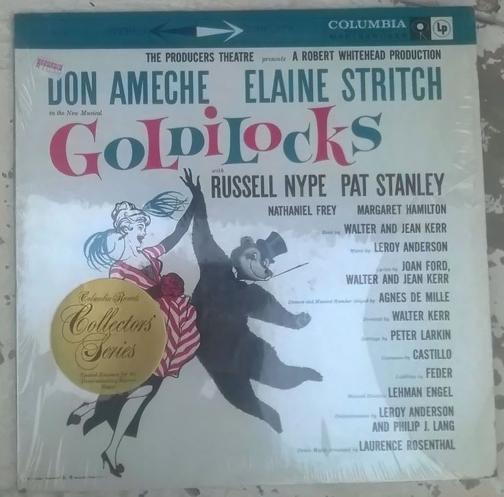 Columbia Records Collectors Series, Don Ameche, Elaine Stritch ‎– Goldilocks.