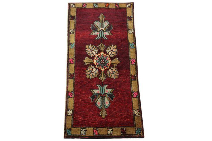 Flowers design Handmade Turkish rugs Doormats 3.3x1.6 Feet Accent pattern bathmats Throw area rugs Decorative rug natural dye wool rug HY-14 by stripepattern on Etsy