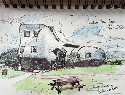 tracyfeldmanartblog: Sketching Local Americana in Hellam, PA