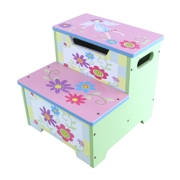flower hand painted stools | GIRLS HAND PAINTED FLOWER STEP STOOL  sc 1 st  Pinterest & 227 best Bancs images on Pinterest | Step stools Painted ... islam-shia.org