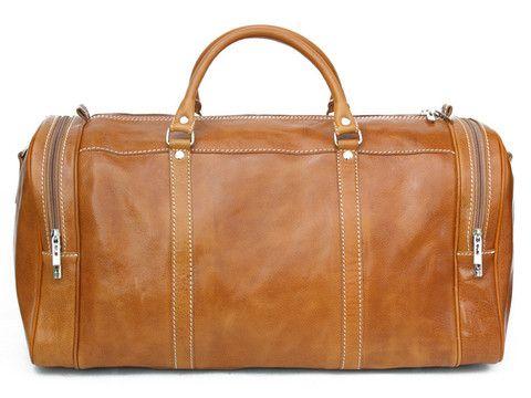Camel genuine leather travel bag | SoLime