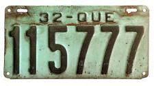 Résultats de recherche d'images pour «quebec license plates 1932»