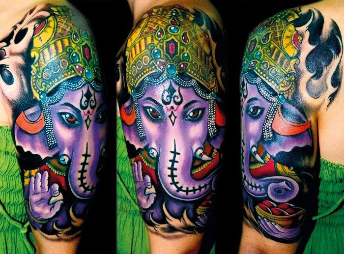 As They Say In Italian Tatuaggio Di Ganesha