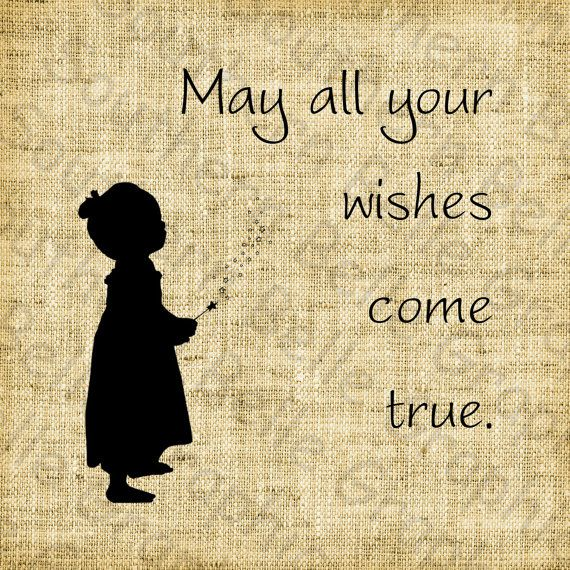 May all your wishes come true//Vintage by SouthernBelleGraphic, $1.00