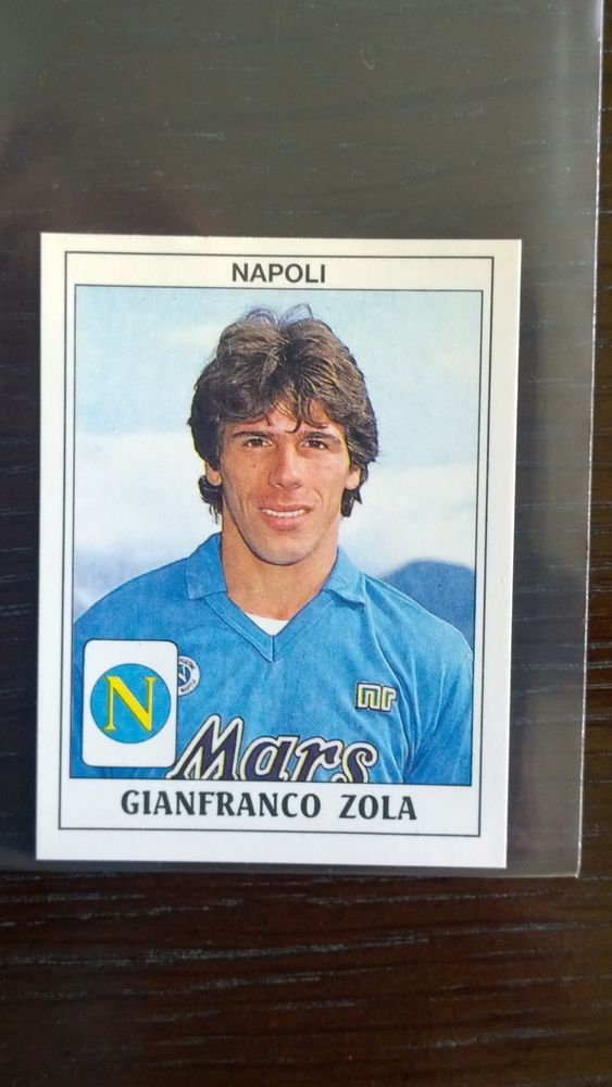 gianfranco zola rookie sticker - panini calciatori 1989-1990 - mint condition from $42.56