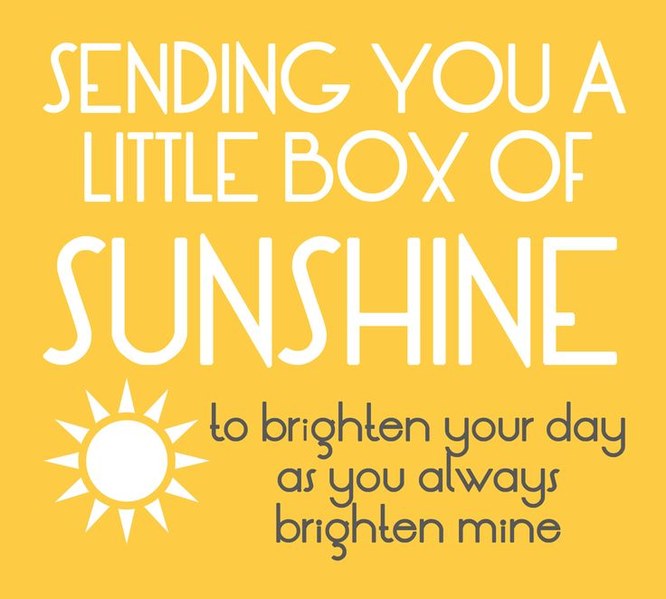 25 Unique Sunshine Box Ideas On Pinterest Box Of