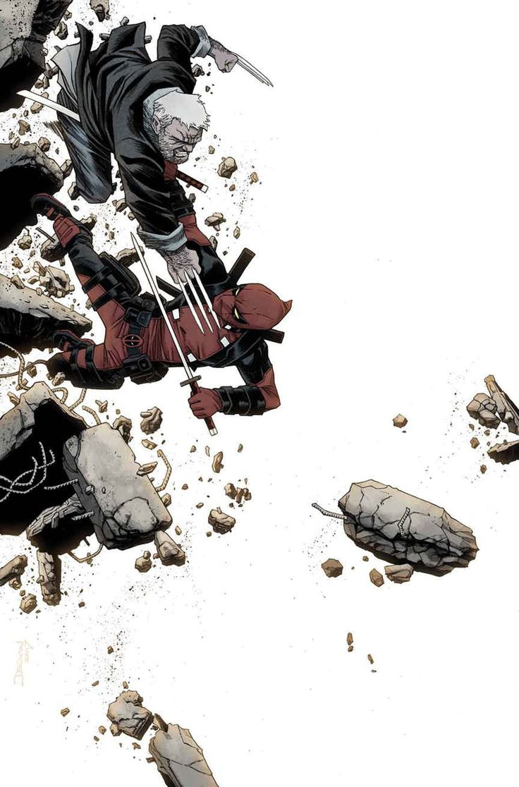 Old Man Logan vs Deadpool by DECLAN SHALVEY