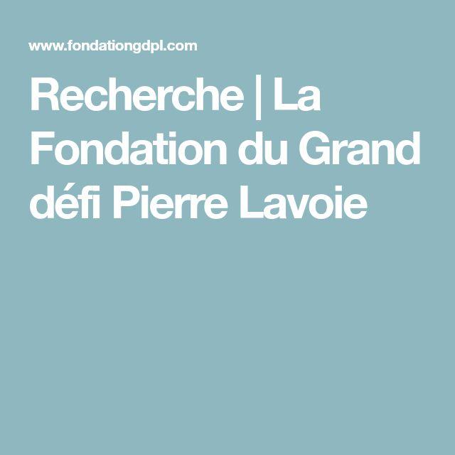 Recherche | La Fondation du Grand défi Pierre Lavoie