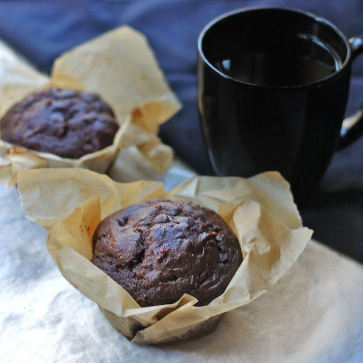 Chocolate Pumpkin Zucchini Muffins | Breads & Pretzels | Pinterest