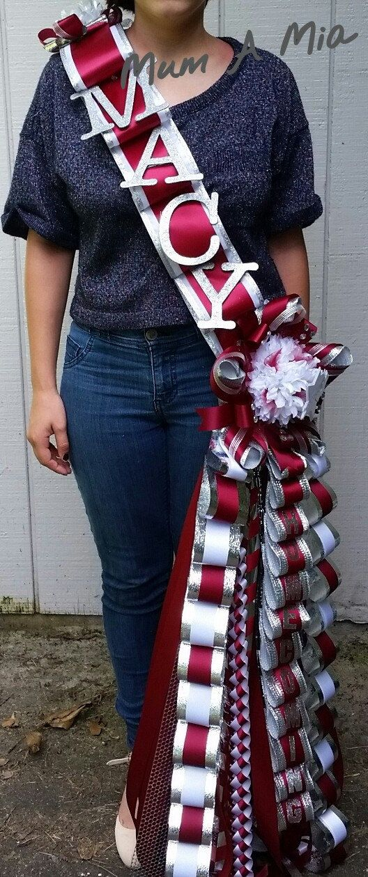 Sash homecoming mum LED lights unique football corsage by MumAMia3