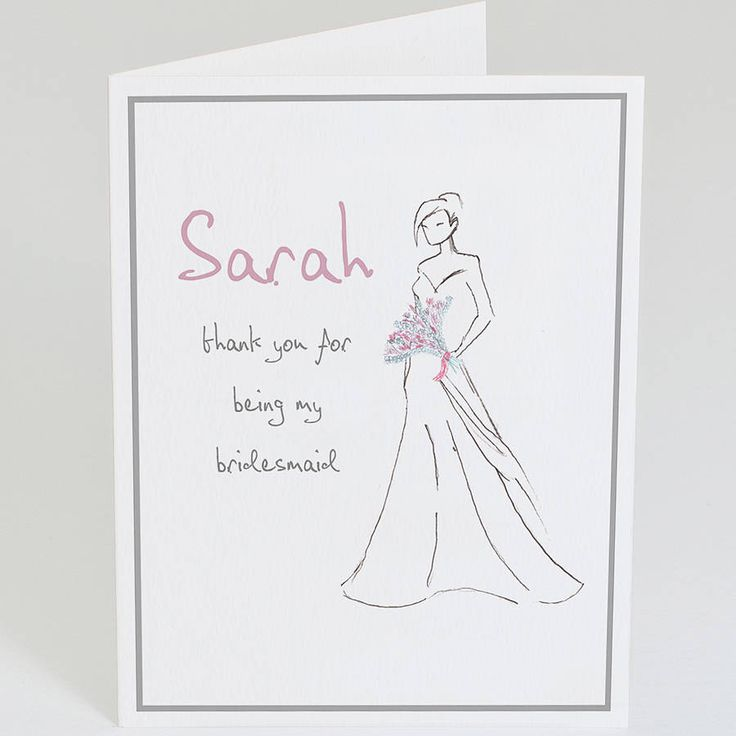 Personalised 'Thank You Bridesmaid' Card