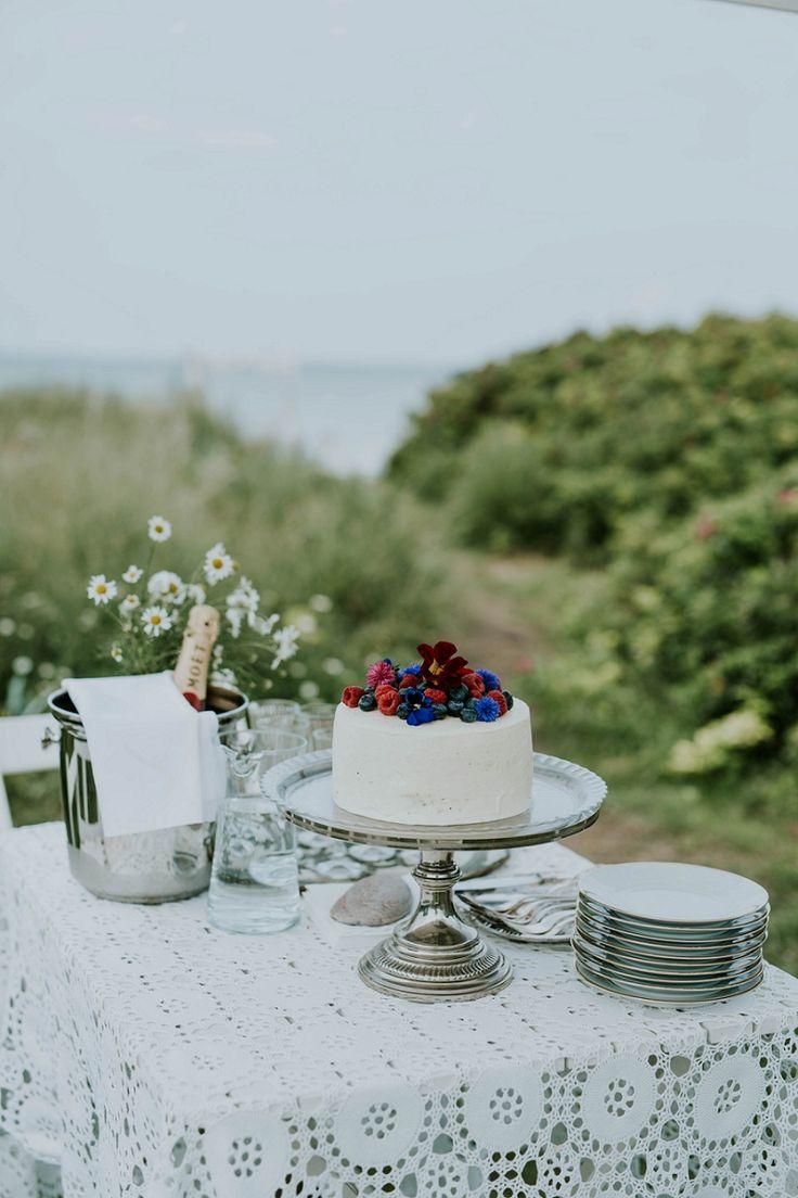 cosy Nordic beach house elopement with Danish Island Weddings