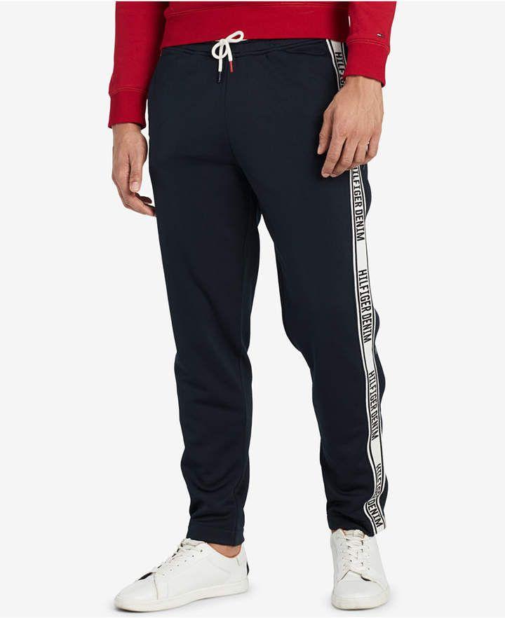 Tommy Hilfiger Men S Logo Track Pants Created For Macy S Track Pants Mens Tommy Hilfiger Mens Outfits