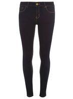 Womens **Tall Indigo Authentic 'Bailey' Super Skinny Stretch Jeans- Blue