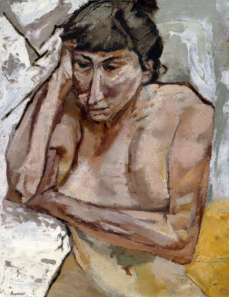 Fausto Pirandello - Donna pensosa, 1952