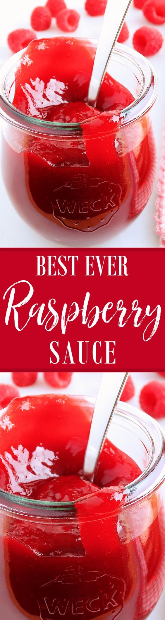 Raspberry Sauce (best ever) ~ Lush, thick, bright, jewel-like ruby-red in color, and bursting with fresh raspberry flavor, our Raspberry Sauce falls between a fresh cooked berry coulis and homemade jam yielding an incredibly gorgeous yet highly versatile dessert sauce—perfect for everyday, holiday and special occasion desserts. After prep, this recipe is ready in just 15 minutes!