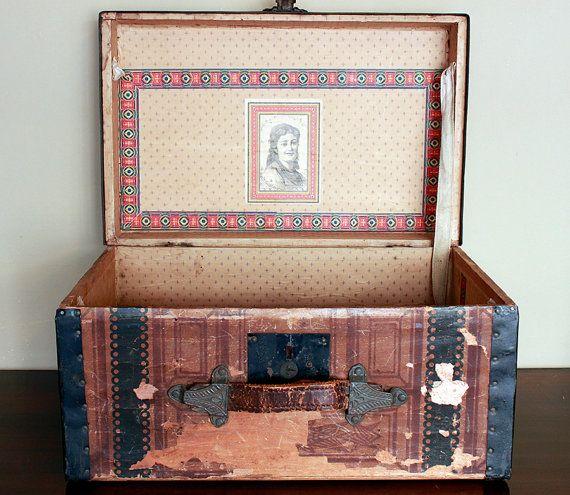 19 best antique vintage trunks images on pinterest for Buy thrift store furniture online