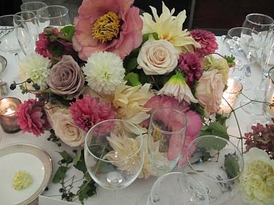 Kate for Flowerwild Designs. Arrangement for Tiffany NYC bash.