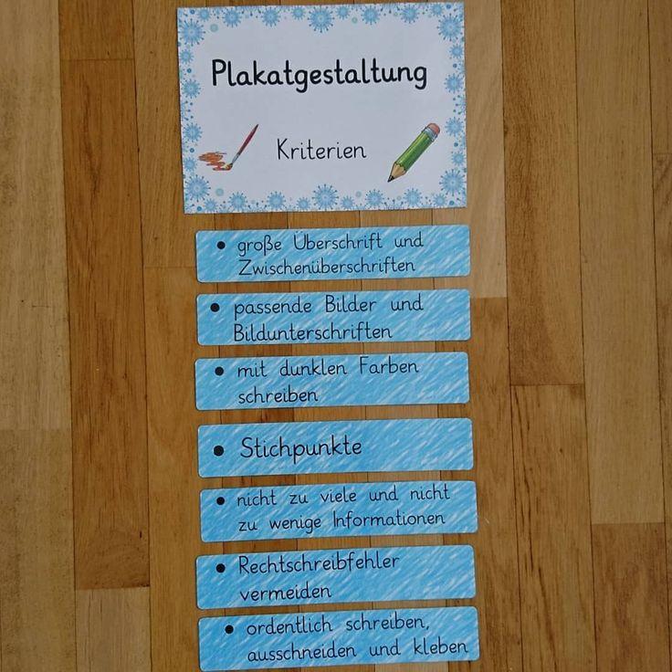 Inspiriert durch @team_farbenfroh habe ich diese Kriterien zur Plakatgestaltung aufgestellt, da nach den Ferien in zwei Klassen die Erstellung von Lernplakaten ansteht. Ggf. werde ich die Kriterien noch erweitern.