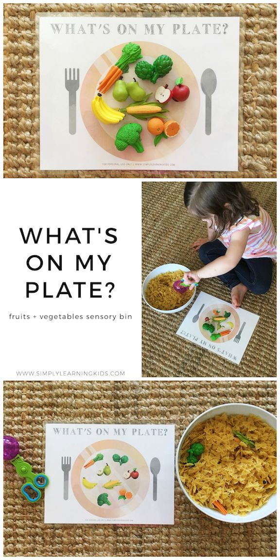 Fruits & Vegetables Sensory Bin - Simply Learning