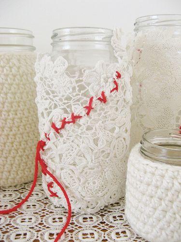 dottie angel: a cluster of gleeful jam jars... how-to