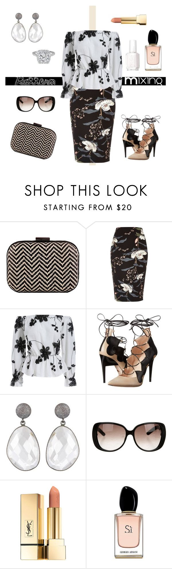 """Rules are Made to be Broken!"" by krusie ❤ liked on Polyvore featuring River Island, Ruthie Davis, Gucci, Armani Beauty and Essie"