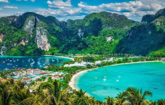 Спокойный и уединённый остров с экзотическими пляжами, остров Пхи-Пхи