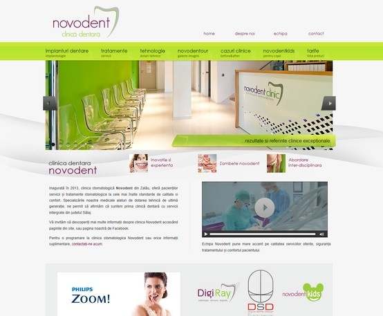 Web Design Proposal - Novodent Clinic