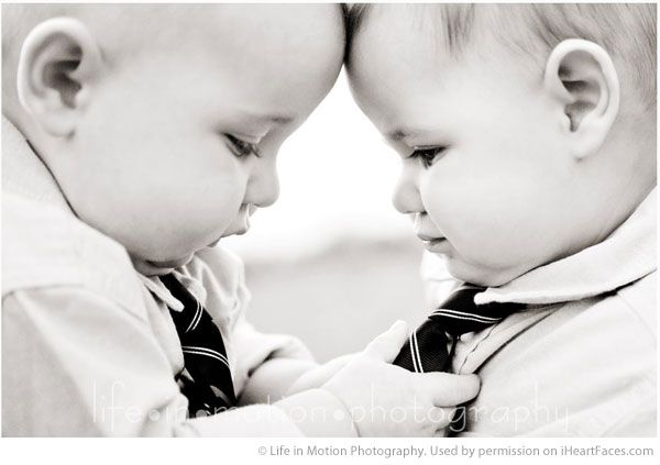 Twins Photography Session Ideas - Portrait by Life in Motion Photography via iHeartFaces.com
