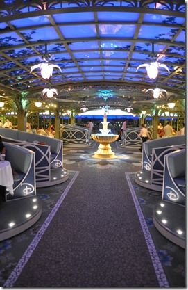 Enchanted Garden restaurant aboard the Disney Dream and Disney Fantasy, Disney Cruise Line