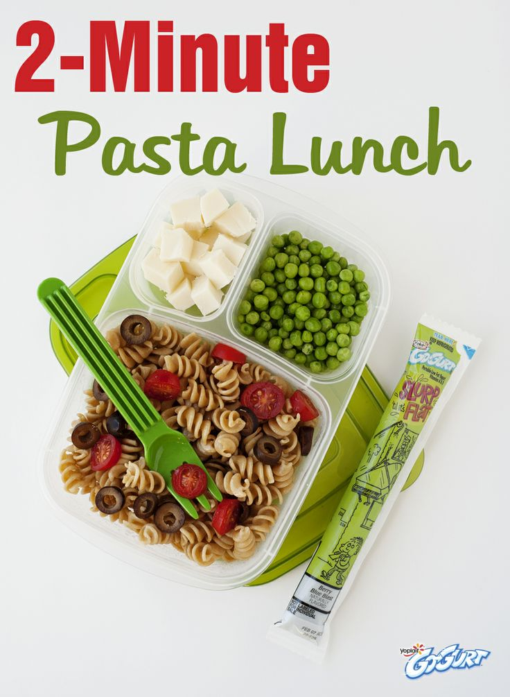 Last night's whole-wheat pasta leftovers can be the solution to a rushed morning's lunch dilemma!