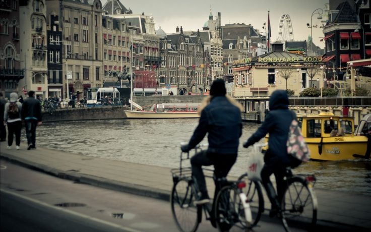 bicycle appealing couple hd wallpaper