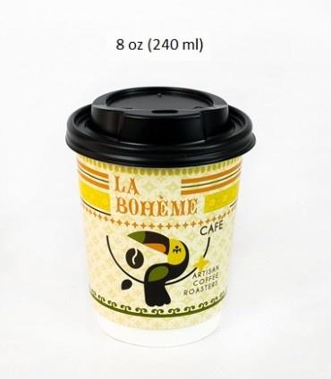 Dvoustěnné papírové kelímky La Boheme Cafe