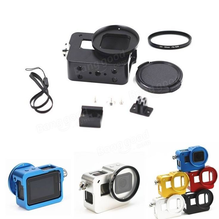 Only US$19.26, buy best Aluminum Protective Frame Mount Housing Case with 52mm UV Lens for Gopro Hero 5 Camera Accessories sale online store at wholesale price.US/EU warehouse.