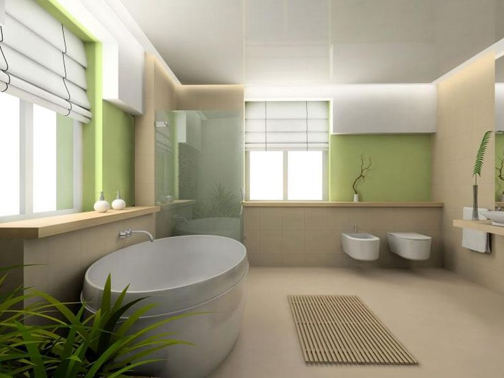 Bathroom colour palettes: Tropical