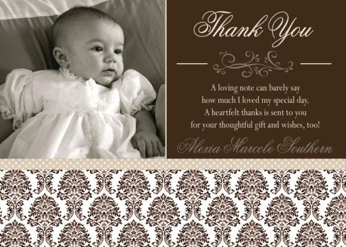 24 best lilys baptism images on pinterest baptism ideas neutral brown damask baptism communion christening invitation or thank you card stopboris Images