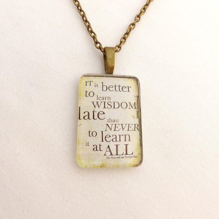 Whisdom quotation necklace   Ankhlandia - personality within
