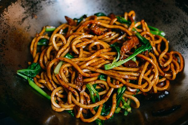 Shanghai Fried Noodles - If you're a vegetarian/vegan, simply leave out the meat and replace it with more mushrooms!