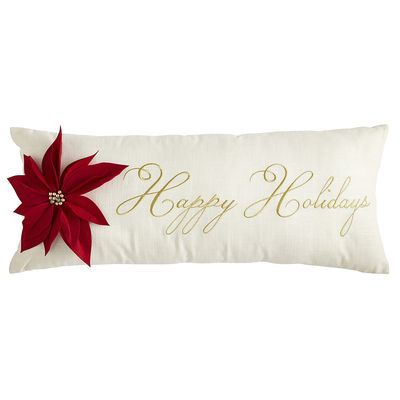 Happy Holidays Oversize Pillow