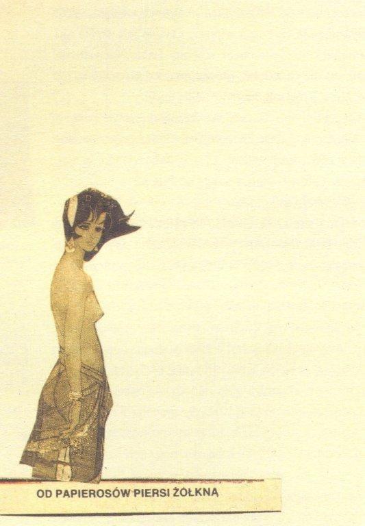Collage Postcard by Wislawa Szymborska (to Ewy Lipskiej & Wladyslawa Janickiego, 1994)