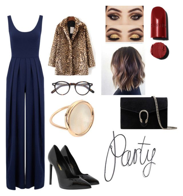 """Untitled #45"" by manjap on Polyvore featuring Nadia Tarr, WithChic, Moscot, Yves Saint Laurent, Ginette NY and Gucci"