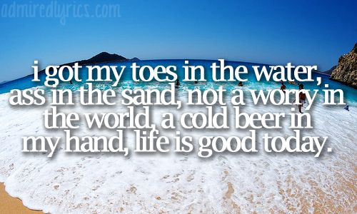 This song plays in my head every time I get a chance to hit the beach!