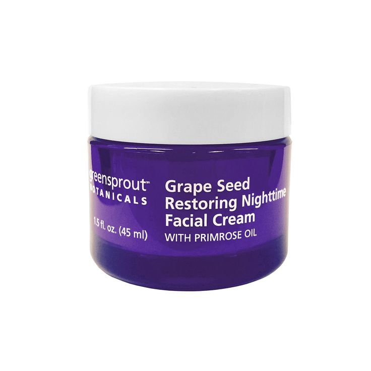 GreenSprout Botanicals Grape Seed Restoring Nighttime Facial Cream, Multicolor