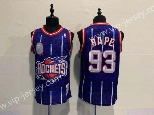 size 40 ee398 b5694 BAPR And Houston Rockets Blue #93 | NBA Jersey | NBA ...