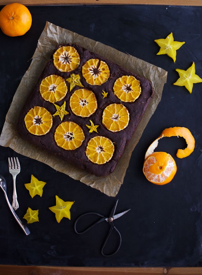 Happy Holidays, everyone! To celebrate, here's a fudge cake made with black beans and studded with the fruit of the season – the sweet clementine. I also came across a star fruit and thought it looked festive enough to accompany the clementines. If you've never tried one, it's both sweet and tart, and somewhere...Read More »