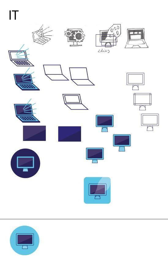 Variaties iconen Informatietechnologie